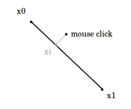 Line segment selection